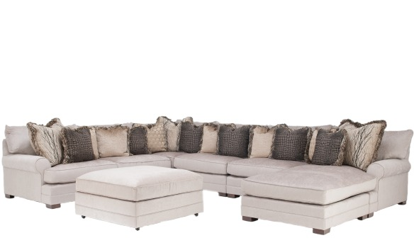 Casbah Sectional King Hickory
